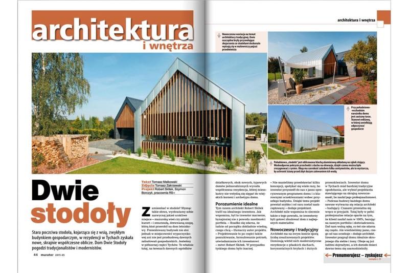 """Dwie stodoły w """"Muratorze"""" 05/2015"""