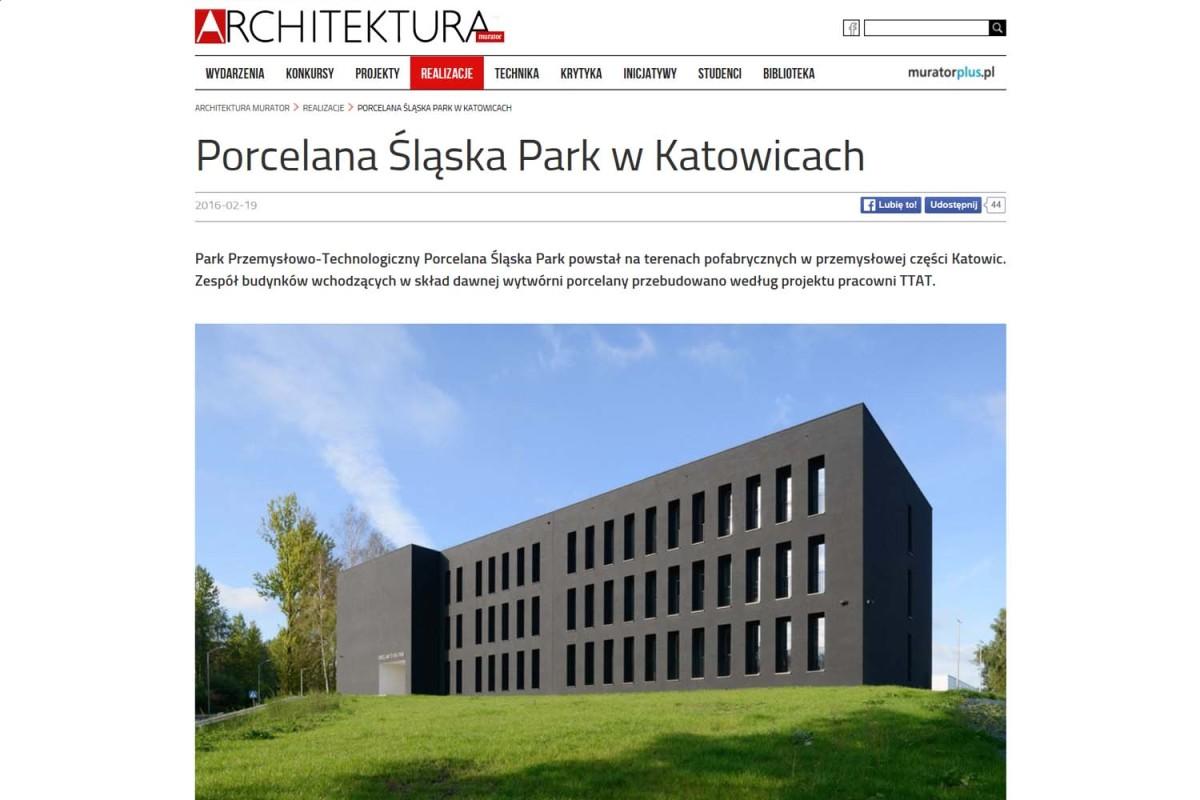 """Porcelana Śląska<br> w """"Architekturze"""""""